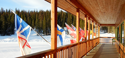 Ski lodge during an event